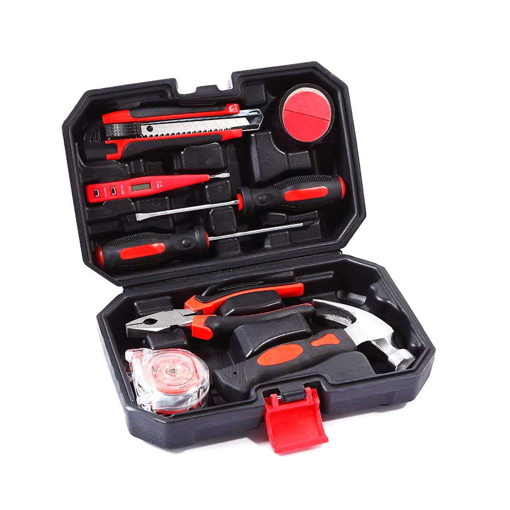 Tool Kit. Best Portable Small Basic Starter Professional Household DIY Hand Mixed Repair Set W/Storage Toolbox Case For Home&Garage&Office For Men&Women. Includes Screwdriver, Wrench, Pliers, Etc.
