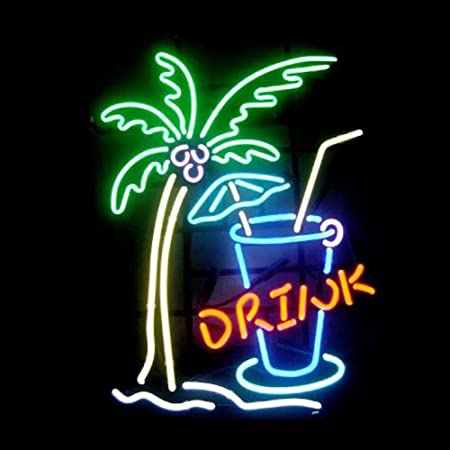 Drink real glass neon light sign home beer bar pub recreation room drink real glass neon light sign home beer bar pub recreation room game room windows garage aloadofball Image collections