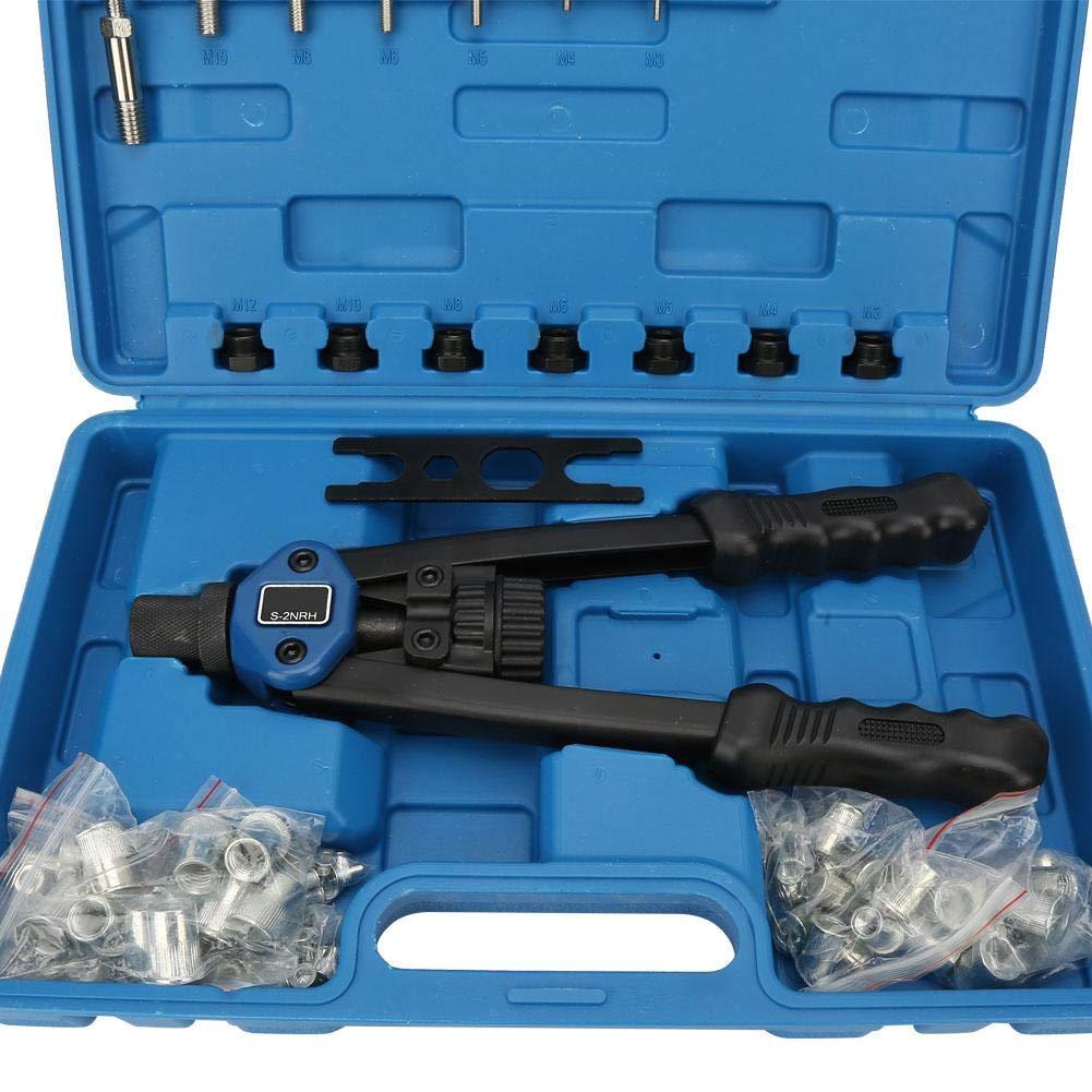 10M Herramienta de Mano ciega Remachadora de Remache de Tuerca autom/ática Kit de Pistola de Tuerca de Remache Tirador de Pistola Remachadora