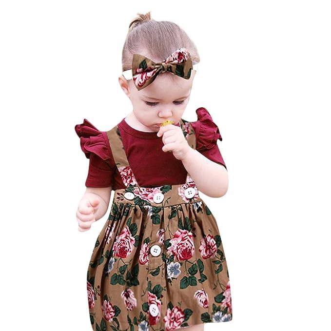 Malloom Vestido Elegante Boda Fiesta con Flores para Niña Vestido Blanco de Princesa para Chica Dama de Honor (Hai Yi + Correa Falda + Cinta para el Pelo): ...