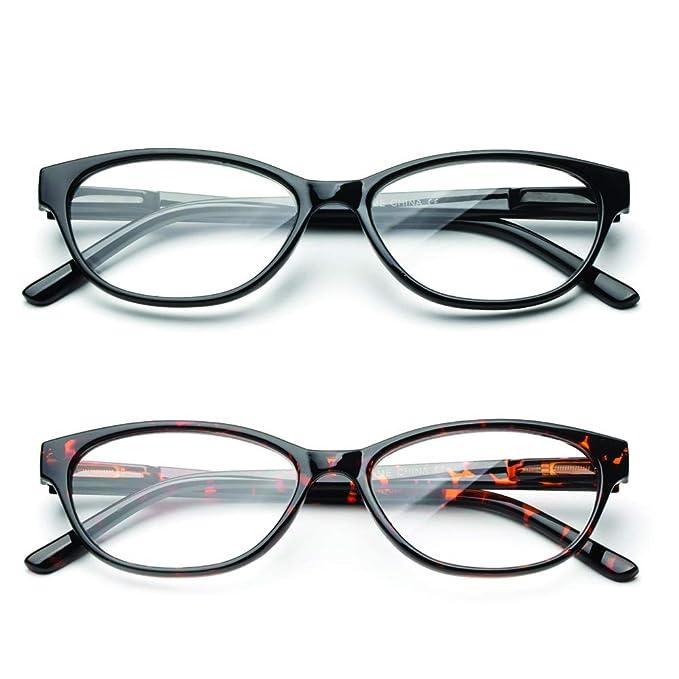 Amazon.com: NEWBEE Fashion Cateye lente transparente ...