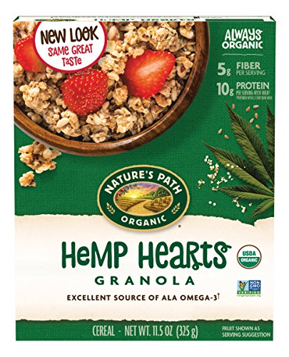 (Nature's Path Organic Granola Cereal, Hemp Hearts Granola, 11.5 Ounce Box (Pack of 6) (Packaging may vary))