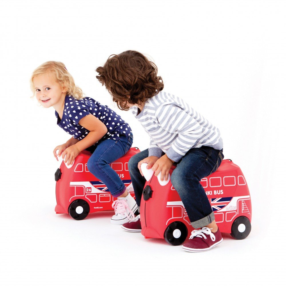 Trunki: The Original Ride-On Suitcase NEW, Boris The London Bus (Red) by Trunki (Image #1)