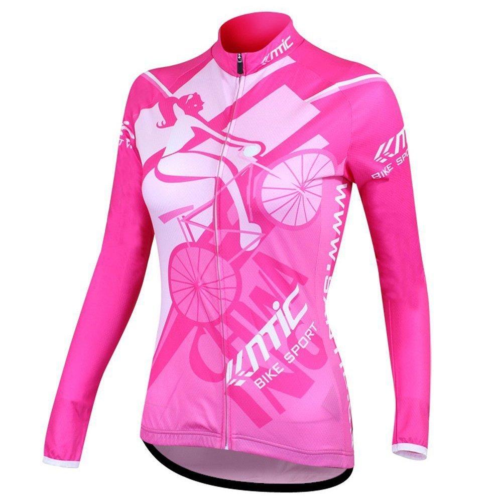 SANTIC Women's Bicycle Cycling Jersey Long Sleeve Mountain Outdoor Jacket Sports Biking Shirts Full Zip