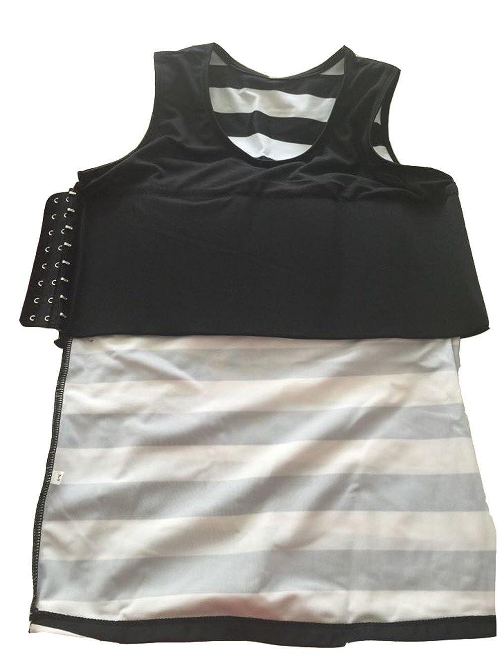 Super Flat Les Lesbian Tomboy Compression Clasp Chest Binder Swimsuit Top Trunk
