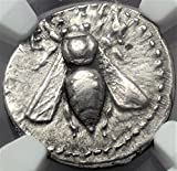 GR 200-100 BC Ionia Ancient Bee Old Antique Silver Coin AR Drachm Choice Extremely Fine NGC