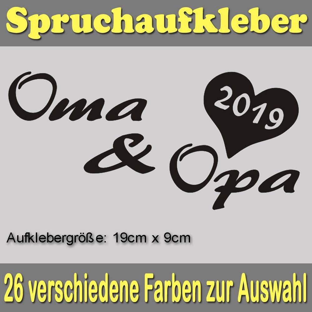 Baumgartner Oma Opa 2019 Spruch Styling Auto Aufkleber Sticker Bomb Shocker Tuning Decal Oem Dub Spr 033 010 Weiß Auto