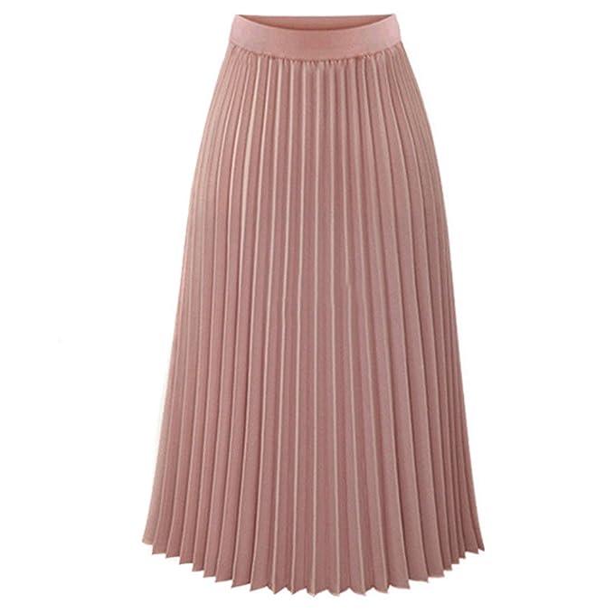 Faldas plisada elegante en colores solidos para fiestas, cocteles, bodas.