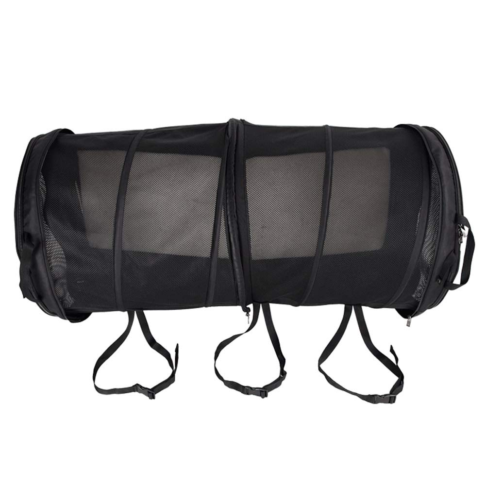 Large Space Car Kennel Crate Bag, Cage, with Plush Mat Pet Cat Bed Bag Portable Pet Play Tent Foldable Black 120x60cm