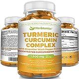 High Strength Turmeric Curcumin with Black pepper Bioperine 1500mg 95% Curcuminoids, Antioxidant, 120 CAPSULES, TURMERIC C3 COMPLEX, Joint Pain, Anti-Inflammatory Turmeric Supplement, Tumeric Capsules Review