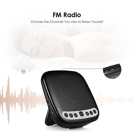 InLife Máquina de Ruido Blanco, Sleep Sound Machine, Ayuda Natural del Sueño, Sonido de Relajación, Volumen Ajunstable, Radio FM, Opción de Temporizador, ...