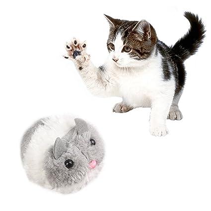 MGYAY Clockwork - Ratón para Gatos de Peluche con Diseño de Gato y Juguete