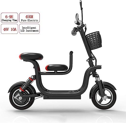 PXQ Adulto Plegable Bicicleta eléctrica 400W 48V Alta Potencia E ...