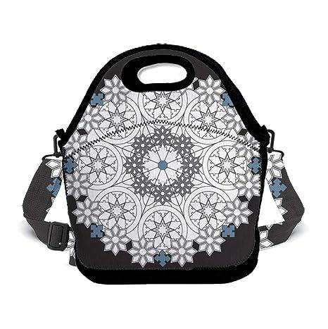 5ba1da89b82e Amazon.com: OKAYDECOR Neoprene Lunch Bag, Insulated Lunch Bag ...