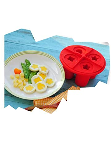 WAOBE Egg Steamer - Silicona DIY Molde para Huevo Helado Molde Convenient Breakfast Red