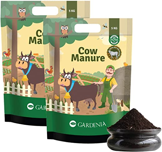 Ugaoo Cow Dung Manure Fertilizers for Plants & Home Gardening - 10 Kg
