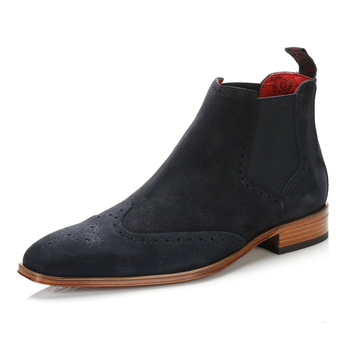 90d08d9c7 Jeffery West Mens Dark Blue Ante Vacuno Capone Brogue Chelsea Boots-UK 11:  Amazon.co.uk: Shoes & Bags