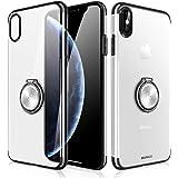 """Coque iPhone X 5.8"""" XS Max 6.5"""" Anneau Support 360 Degrés de Rotation Bague Ultra Mince Anti"""