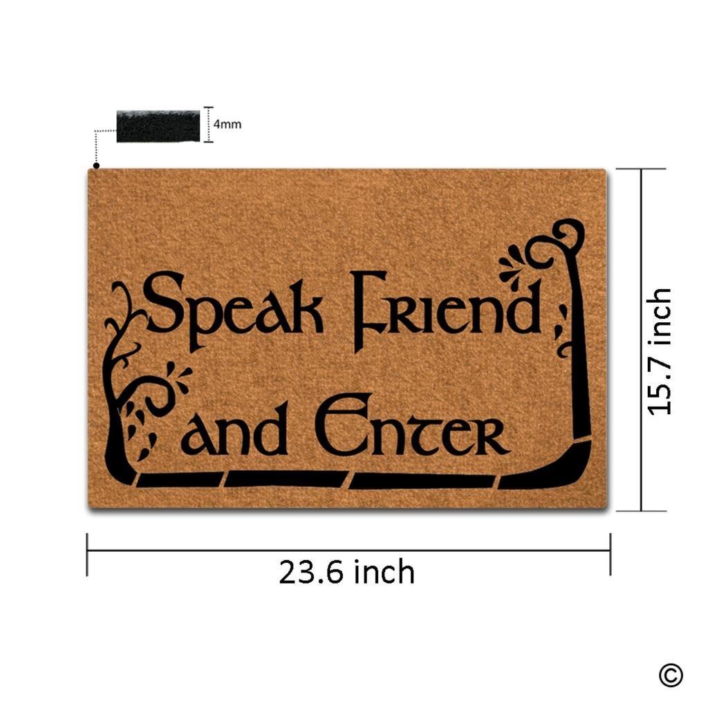 Amazon.com : MsMr Doormat Entrance Floor Mat Funny Doormat Speak ...