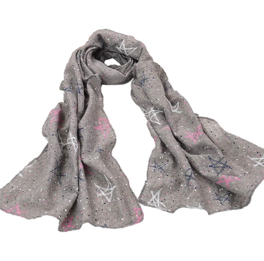 Chytaii sciarpa foulard collo Tenere Caldo Lunga Grande per bambini ragazze inverno autunno motivi stelle blu blu 140 * 40CM
