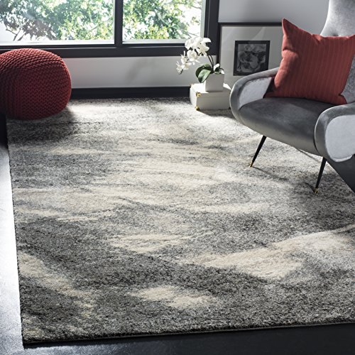 Safavieh Retro Collection RET2891-8012 Modern Abstract Grey and Ivory Area Rug (6′ x 9′)