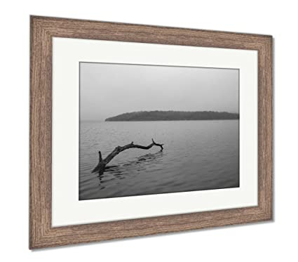Amazon.com: Ashley Framed Prints Morning Fog At A Lake Outside Of ...