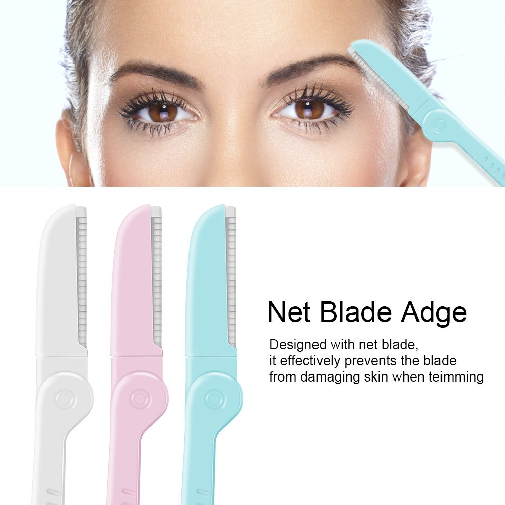 3 Pcs Eyebrow Razor Shaper Facial Hair Women's Trimmer Shaving Grooming Kit