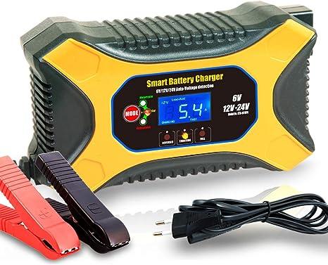 Jiaoo Autobatterie Ladegerät 6v 2a 12v 6a 24v 3a Volt Motorrad Batterieladegerät Mit Fahrzeugmodus Reparaturmodus Auto