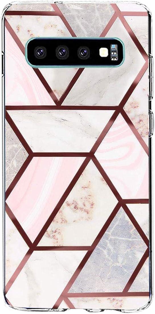 Riyeri Funda Samsung Galaxy S10,Case Transparente Silicona Carcasa Resistente Arañazos,Funda Compatible con Carga Inalámbrica para Samsung Galaxy S10
