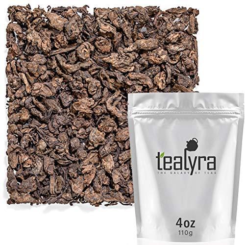 Tealyra - 1998 Year LAO CHA TOU - Ripe Aged Pu erh - Loose Leaf Tea - 100% Natural - Caffeine Level High - Weight Loss Tea - 110g (4-ounce) Aged Pu Erh Tea