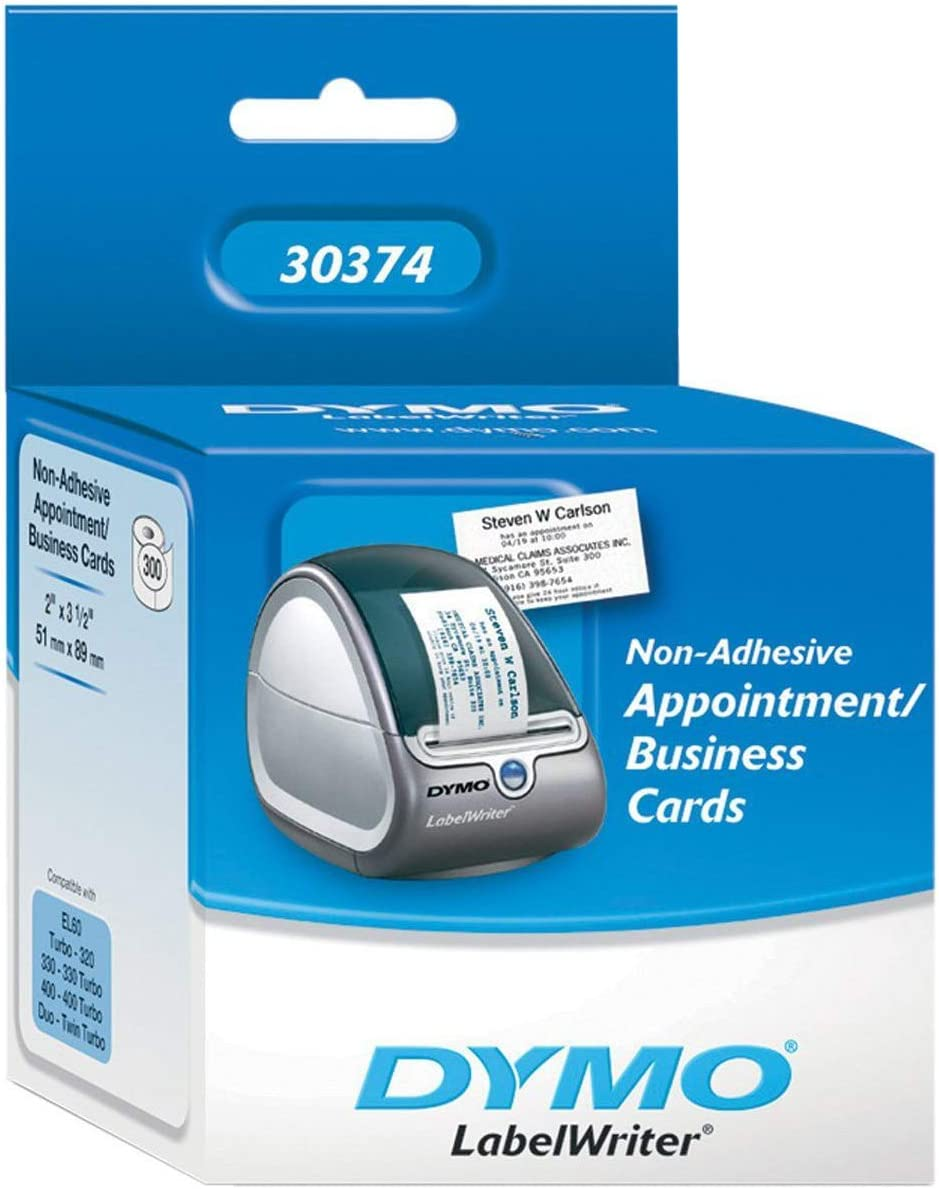 "DYMO White 2x3-1/2"" Card Stock 300 Per Roll"