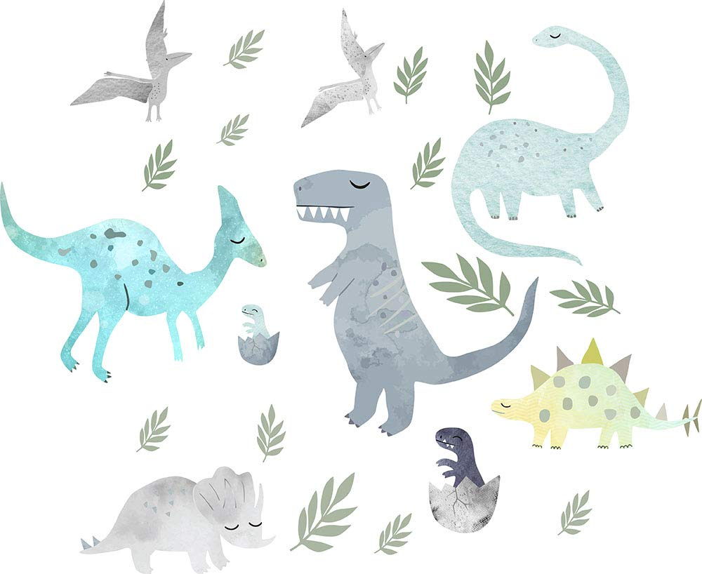 Vinilo Decorativo Pared [7RGPJZ35] dinosaurios