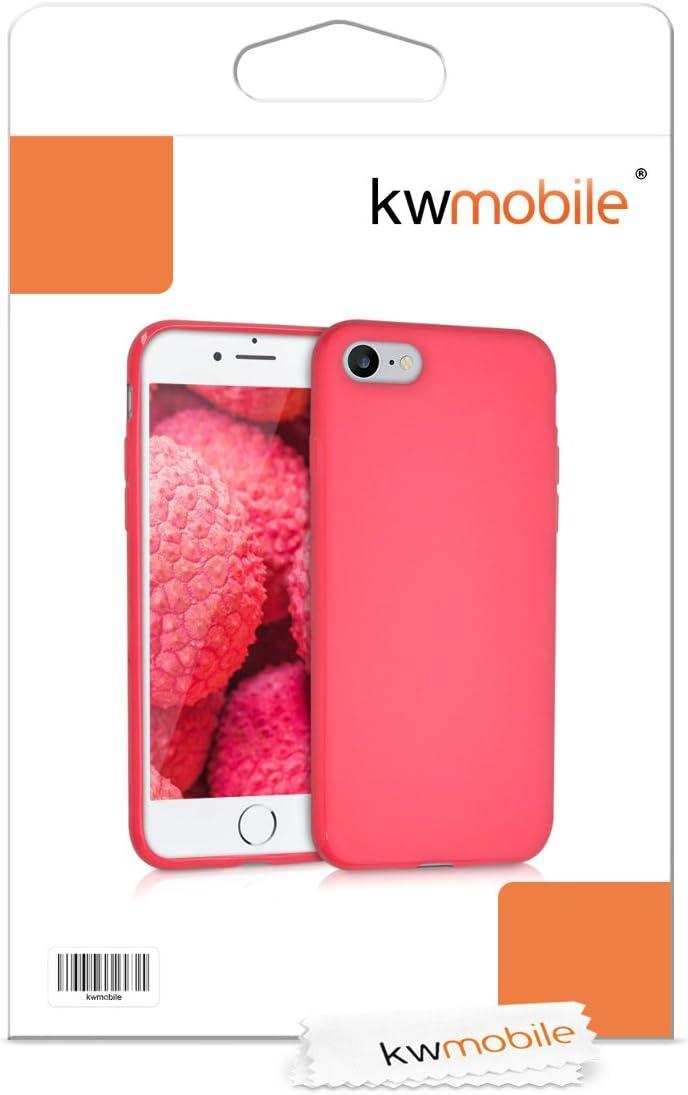 kwmobile Funda Compatible con Apple iPhone 7//8 // SE Protector Trasero en Azul Claro Mate 2020 - Carcasa de TPU Silicona