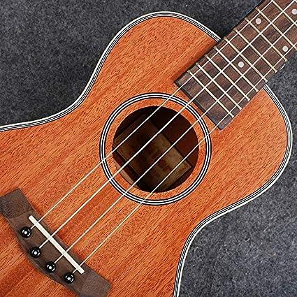 BASDW 23 pulgadas ukelele ukelele Ukulele Caoba pequeña guitarra de cuatro cuerdas BASDW (Color : Wrapped peach core-23 inches): Amazon.es: Instrumentos musicales
