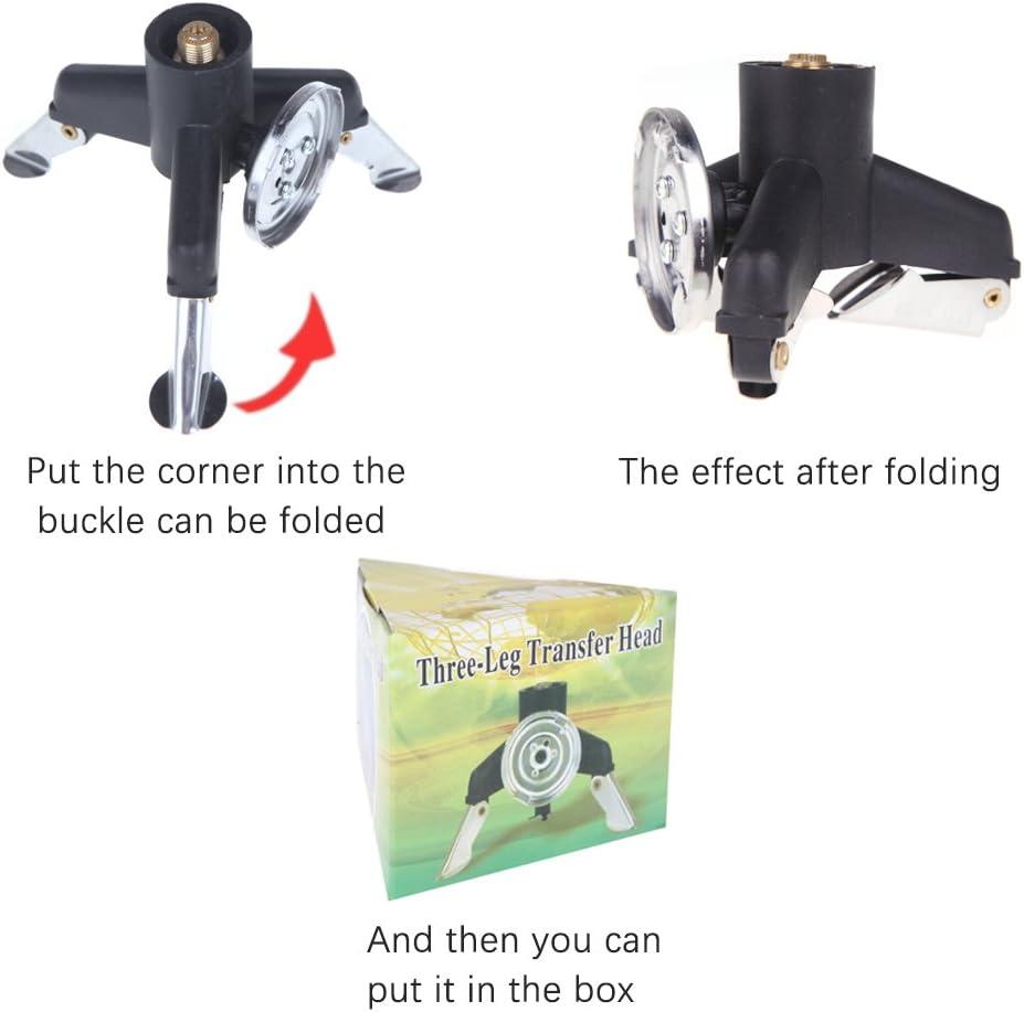Durable Adaptor Transfer Head Three-Leg Nozzle Gas Bottle Screwgate Stove Gear