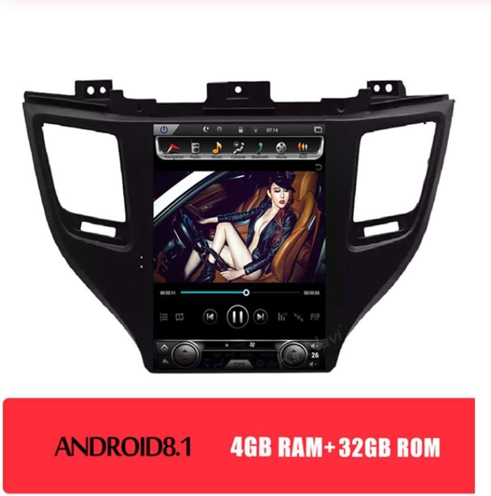 Coches Reproductor De DVD Para Hyundai Tucson 2014-2020 Con Android 8.1 10.4 Pulgadas 1 Din Coche MP5 4G Ayuda/Bluetooth/GPS/Espejo Reverso,4+32gb