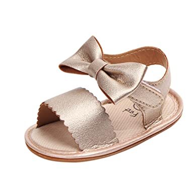 Amazon.com  KONFA Toddler Baby Girls Solid Color Soft Sole Sandals ... 3146320c3e4f