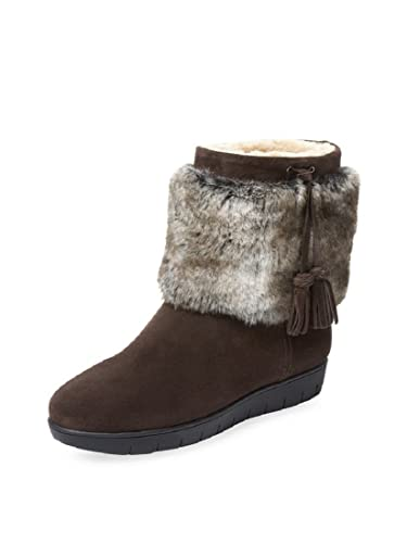 c04b9ac3a Image Unavailable. Image not available for. Color  Aquatalia Women s Brown  Suede Faux-Fur Lined Boots ...