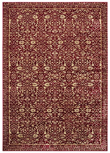United Weavers Royalton Area Rug 853 10330 Belvoir Red Petals Angled 1' 11