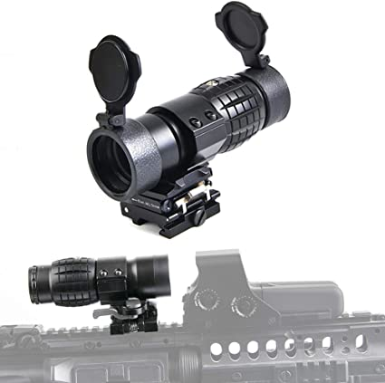 3X Magnifier Scope FTS Sight Flip To Side Mount with 20mm Rail