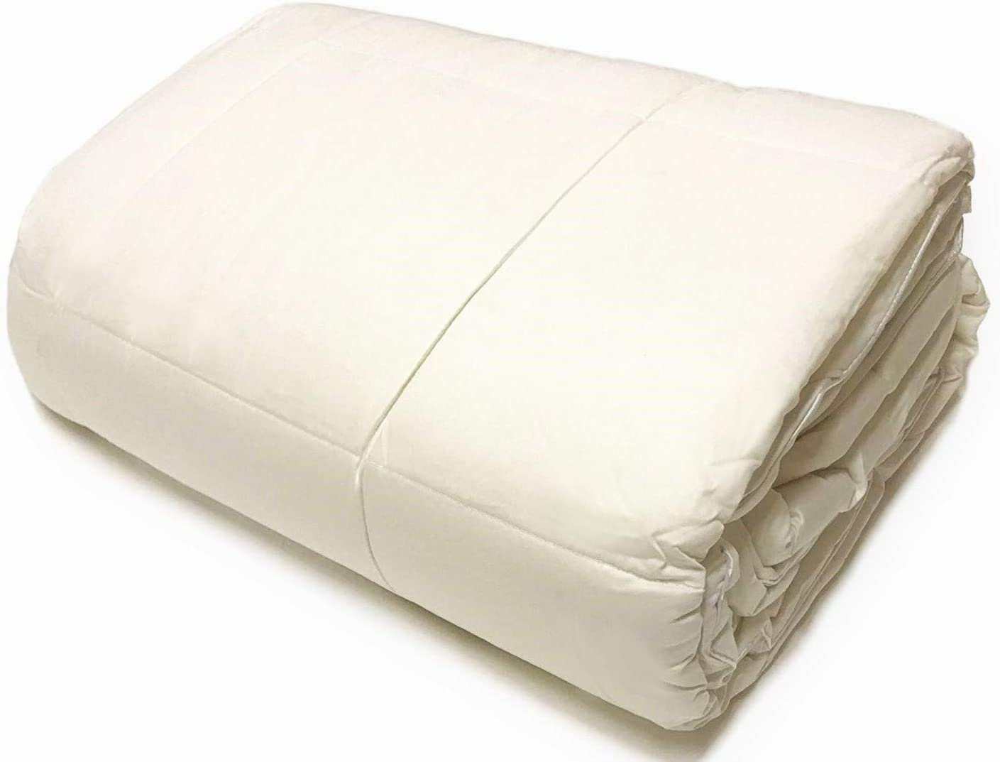 Natural Wool Filled 100/% Cotton Cover Mattress protectors UK Slight Second