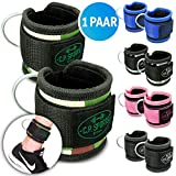 C.P. Sports Premium Hand and Foot Straps Foot Straps Fitness Foot Loops Loop Sub Pulley, blue