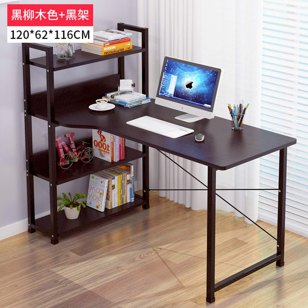 J 120x62x116cm(47x24x46inch) Tower Computer Desk,Computer Table with Storage,Compact Home Office Studying Writing Table Multipurpose Workstation-b 103x40x105cm(41x16x41inch)