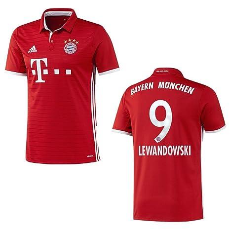 Bayern Camiseta Home Niños 2016/2017 – Lewandowski 9 Talla:140