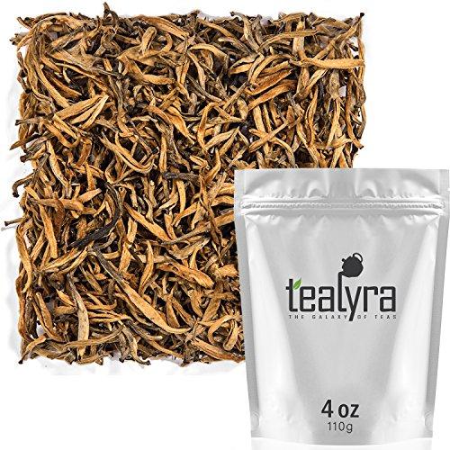 Tealyra - Imperial Golden Monkey - Yunnan Black Loose Leaf Tea - Best Chinese Tea - Organically Grown - Bold Caffeine - 110g (4-ounce) - Golden Yunnan Black Tea