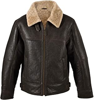 AOWOFS Mens Faux Leather Jacket Brown Motorcycle Bomber ...