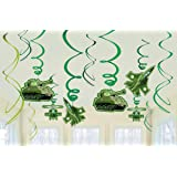 """amscan Camouflage Decorative Swirl Value Pack, Party Favor,Camouflage Green,3 7/8"""" x 5 5/8"""""""