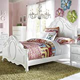 Samuel Lawrence Furniture SweetHeart Panel Bed in White – Twin
