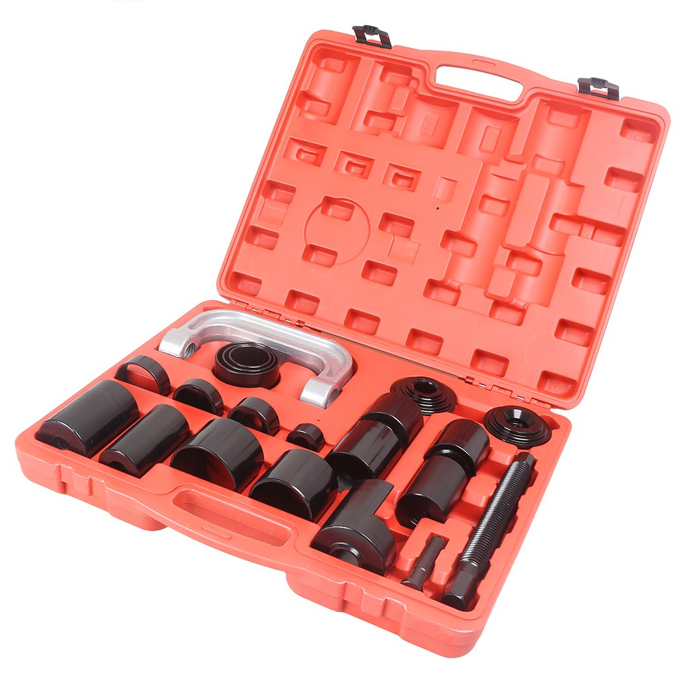 MALLOFUSA Universal 21PCS Ball Joint Repair Service Removal Tool Kit Remover Installer Master Adapter Set