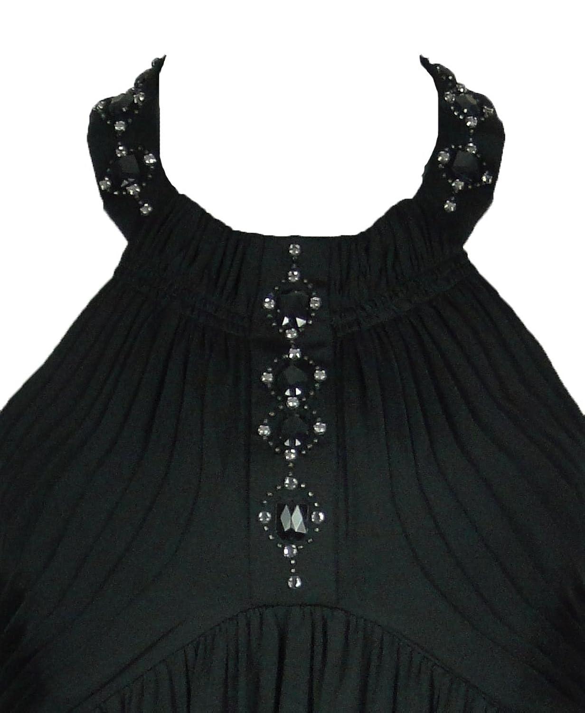 LBD Laundry by Design Backless Dog Collar Dress Black
